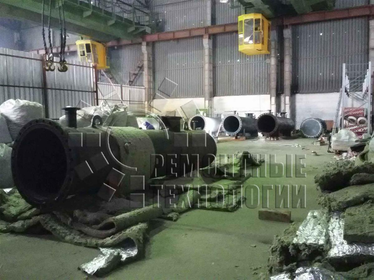 Preparation of tanks for heat treatment. Repair technology