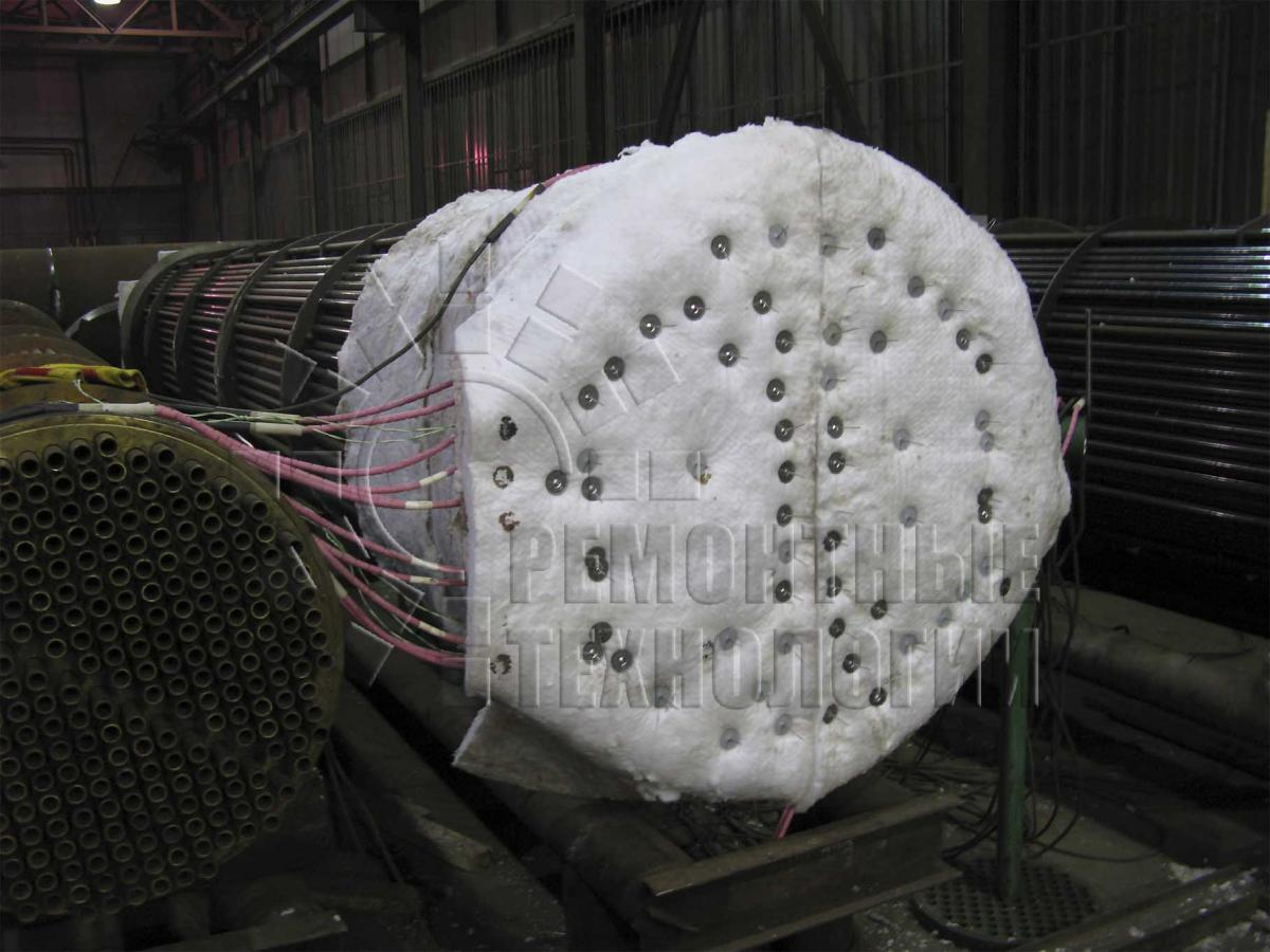 Heat treatment tube grid of heat exchanger. Repair technology