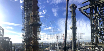 Термообработка сварных швов - Volumetric heat treatment of the column at the Moscow refinery