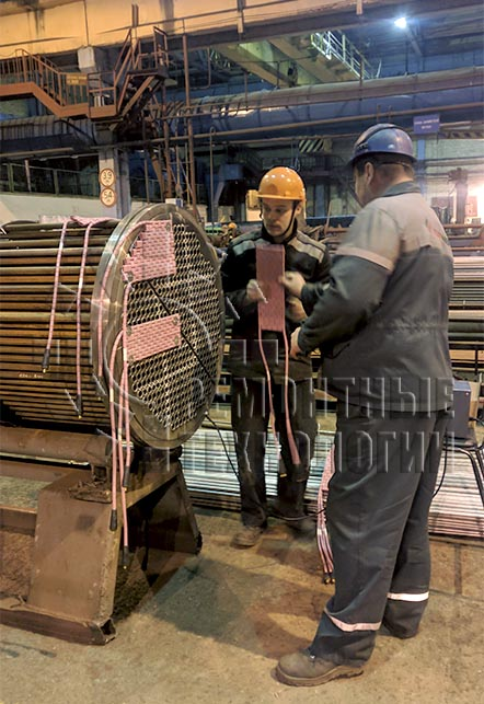 Heat treatment of tube grid of heat exchangers. Repair technology