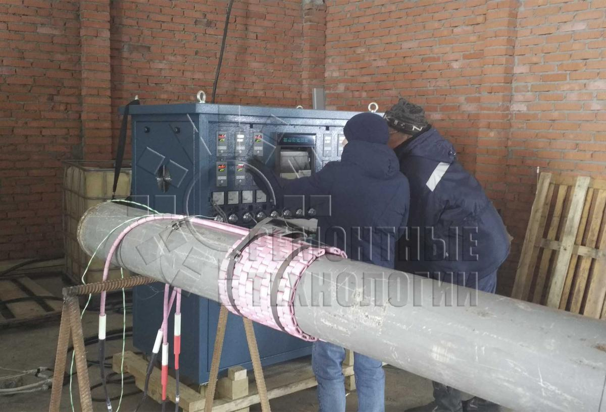 Equipment for heat treatment of steel pipes