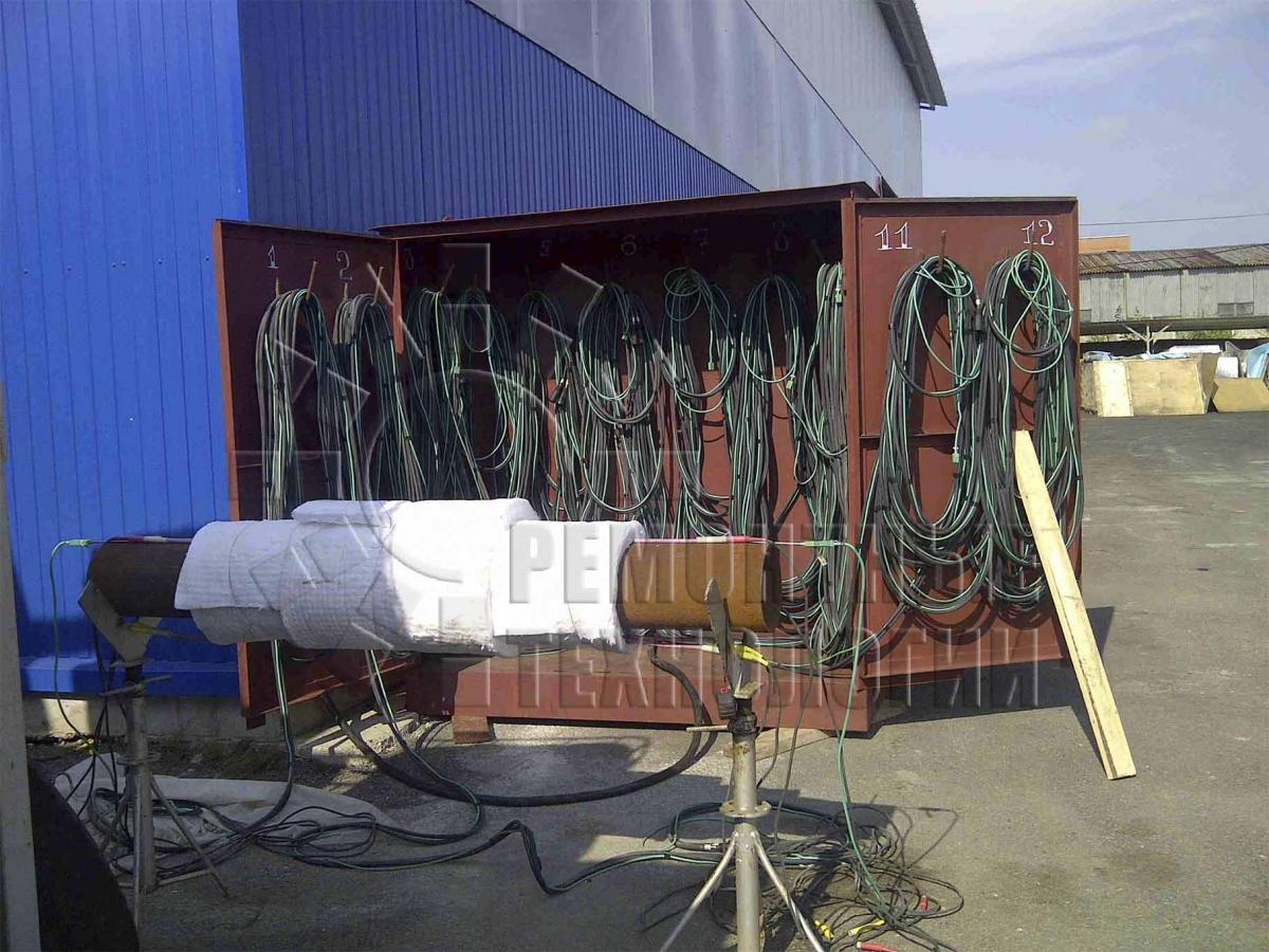 The supply of equipment for local heat treatment. Repair technology