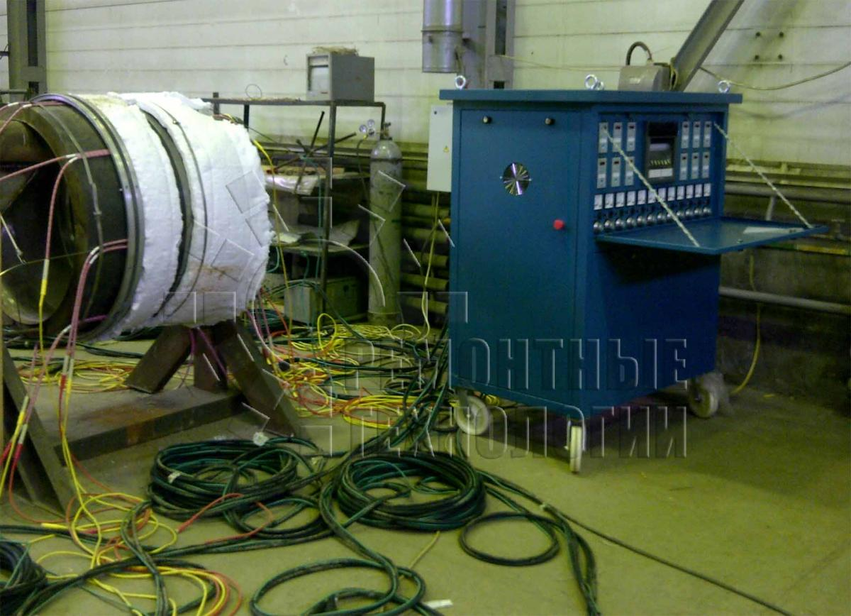 heating technology during welding MCT. Repair technology