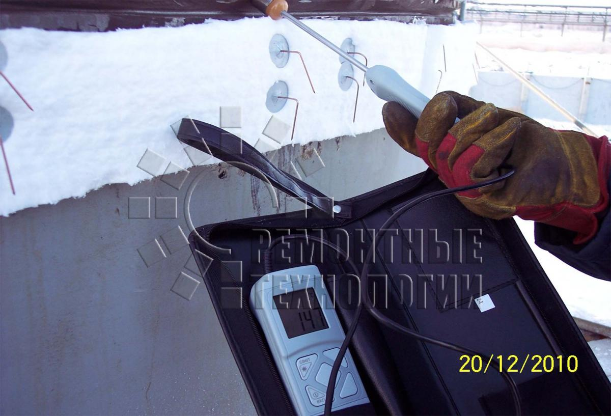 Heated during the welding column in Omsk. Repair technology