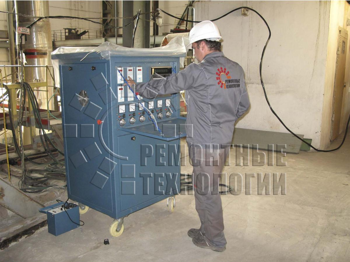 Heat treatment collector at CHP. Repair technology