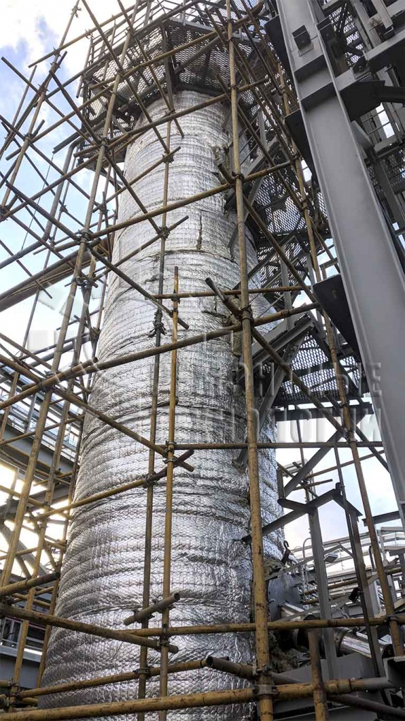 Out-of-furnace volumetric heat treatment of the column at the Volgograd refinery