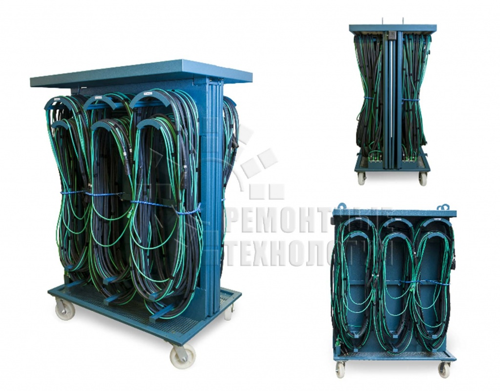Rack for cable assemblies Repair technology